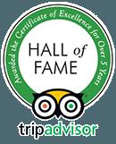 Tripadvisor Hall of Fame Badge